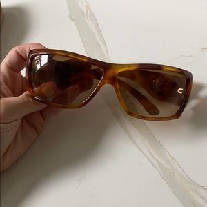 Brown Chanel Sunglasses with crystal CC